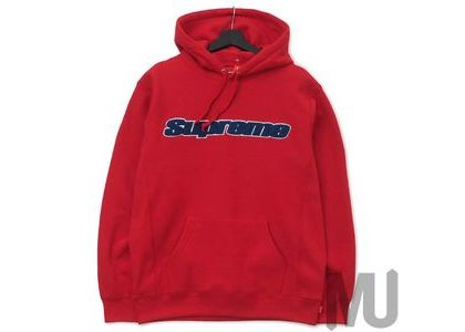 Supreme Chenille Hooded Sweatshirt Redの写真