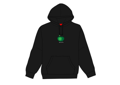 Supreme Apple Hooded Sweatshirt Blackの写真