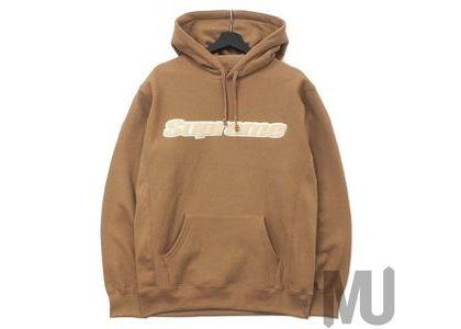 Supreme Chenille Hooded Sweatshirt Brownの写真