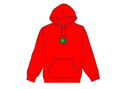 Supreme Apple Hooded Sweatshirt Redの写真