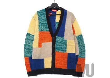 Supreme Patchwork Mohair Cardigan Multicolorの写真