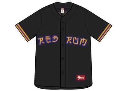 Supreme Red Rum Baseball Jersey Blackの写真