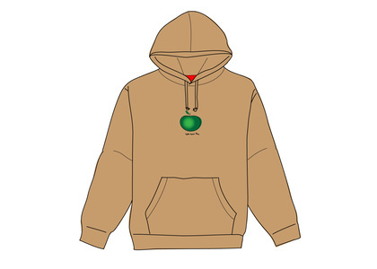Supreme Apple Hooded Sweatshirt Brownの写真