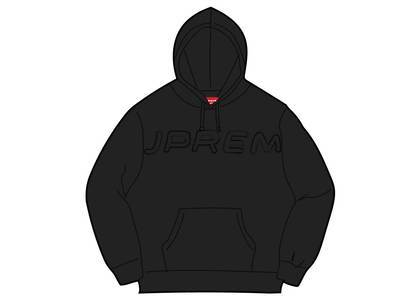 Supreme Set In Logo Hooded Sweatshirt Blackの写真