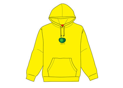 Supreme Apple Hooded Sweatshirt Yellowの写真
