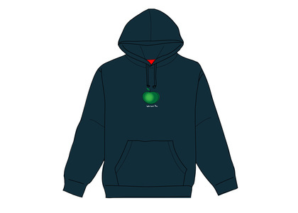 Supreme Apple Hooded Sweatshirt Navyの写真