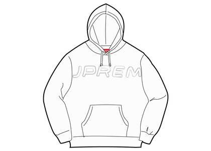 Supreme Set In Logo Hooded Sweatshirt Whiteの写真