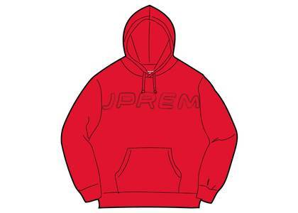 Supreme Set In Logo Hooded Sweatshirt Redの写真