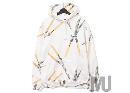 Supreme Shears Hooded Sweatshirt Whiteの写真
