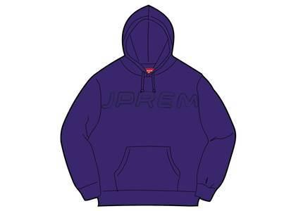 Supreme Set In Logo Hooded Sweatshirt Purpleの写真