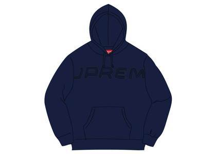 Supreme Set In Logo Hooded Sweatshirt Navyの写真