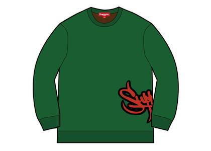 Supreme Tag Logo Sweater Greenの写真
