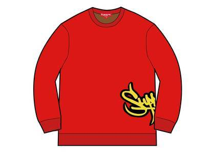 Supreme Tag Logo Sweater Redの写真