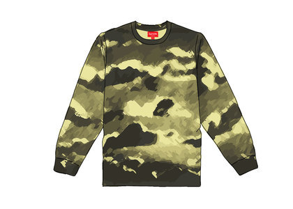 Supreme Cloud LS Pale Yellowの写真