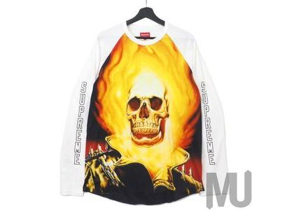 Supreme Ghost Rider Raglan L-S Top Whiteの写真