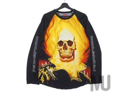 Supreme Ghost Rider Raglan L-S Top Blackの写真
