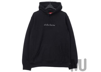 Supreme Le Luxe Hooded Sweatshirt Blackの写真