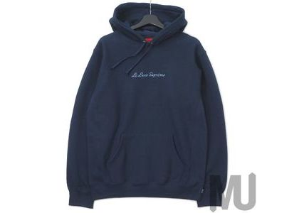 Supreme Le Luxe Hooded Sweatshirt Navyの写真