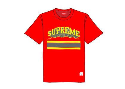 Supreme Cloud Arc Tee Redの写真