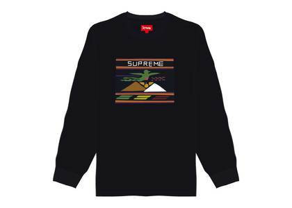 Supreme Needlepoint Patch L-S Top Blackの写真