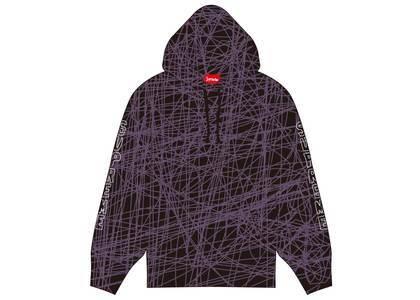 Supreme Marble Hooded Sweatshirt Purpleの写真