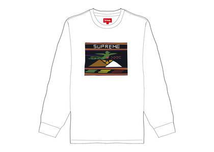 Supreme Needlepoint Patch L-S Top Whiteの写真