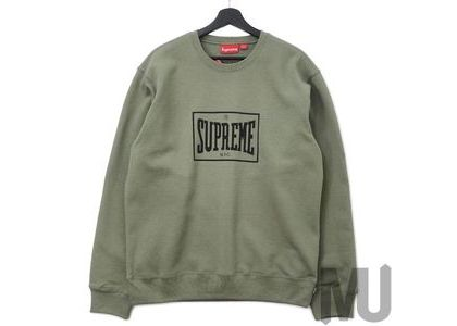 Supreme Warm Up Crewneck Light Oliveの写真