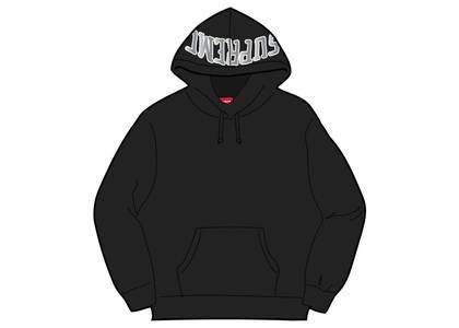 Supreme Sequin Arc Hooded Sweatshirt Blackの写真