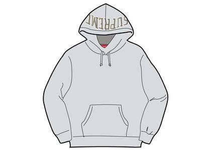 Supreme Sequin Arc Hooded Sweatshirt Ash Greyの写真