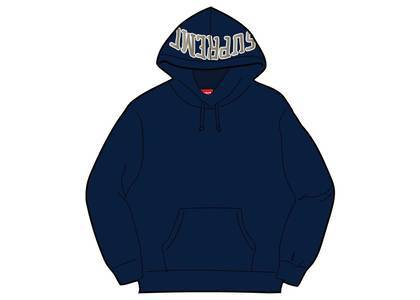 Supreme Sequin Arc Hooded Sweatshirt Navyの写真