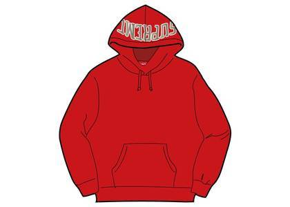 Supreme Sequin Arc Hooded Sweatshirt Redの写真