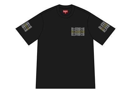 Supreme Stack Logo Tee Blackの写真
