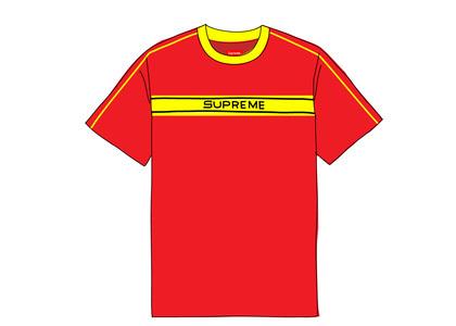 Supreme Chest Stripe Logo S-S Top Dark Redの写真