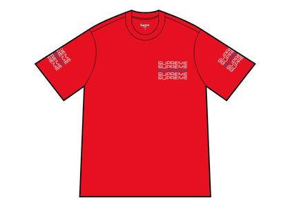 Supreme Stack Logo Tee Redの写真