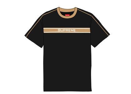 Supreme Chest Stripe Logo S-S Top Blackの写真