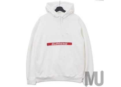 Supreme Zip Pouch Hooded Sweatshirt Whiteの写真