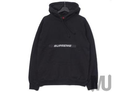 Supreme Zip Pouch Hooded Sweatshirt Blackの写真