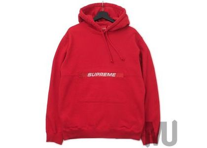Supreme Zip Pouch Hooded Sweatshirt Redの写真