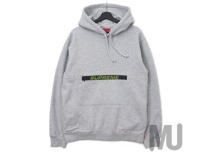 Supreme Zip Pouch Hooded Sweatshirt Heather Greyの写真