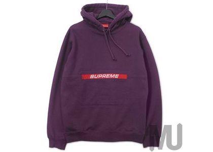 Supreme Zip Pouch Hooded Sweatshirt Eggplantの写真
