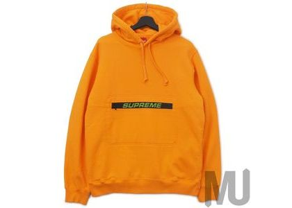 Supreme Zip Pouch Hooded Sweatshirt Orangeの写真
