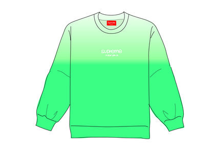 Supreme Dipped Crewneck Greenの写真