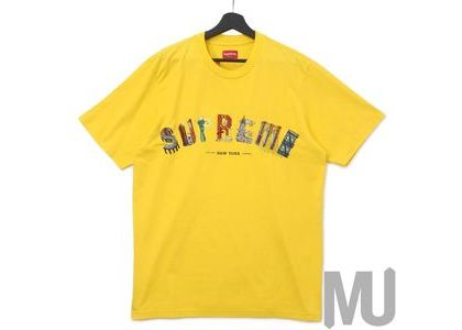 Supreme City Arc Tee Yellowの写真