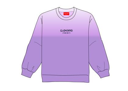Supreme Dipped Crewneck Purpleの写真