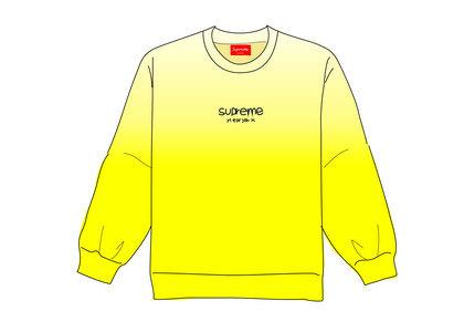 Supreme Dipped Crewneck Yellowの写真