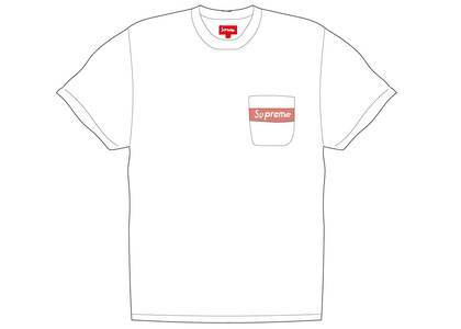 Supreme Mesh Stripe Pocket Tee Whiteの写真