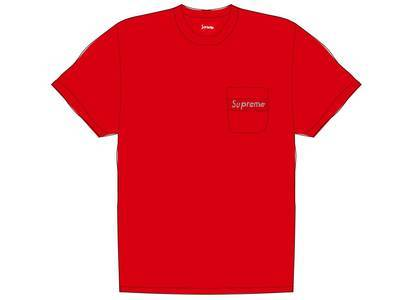 Supreme Mesh Stripe Pocket Tee Redの写真