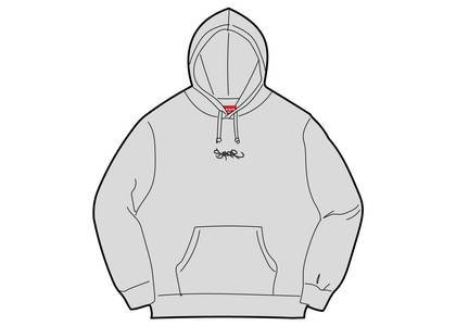 Supreme Tag Logo Hooded Sweatshirt Heather Greyの写真