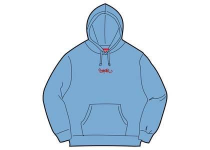 Supreme Tag Logo Hooded Sweatshirt Columbia Blueの写真