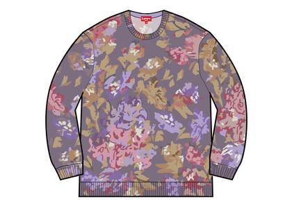 Supreme Printed Floral Angora Sweater Purpleの写真